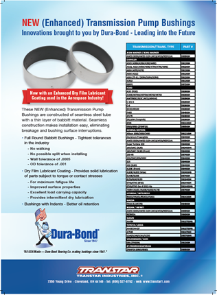DuraBond Enhanced Pump Bushings - Transtar Industries